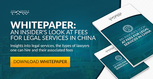 AsiaBridge Law Legal Services China Fees