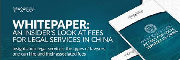 whitepaper: insider's look at fees for legal services in China