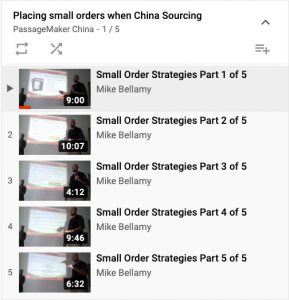 Placing small orders when China Sourcing