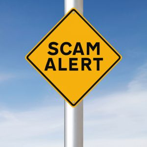 Scam Alert Warning Sign - Beware of Scam Traps